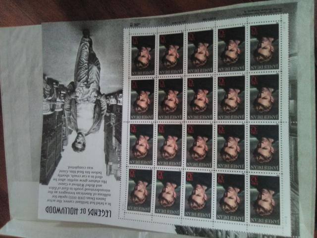 James Dean Legends of Hollywood Stamps 32 cent in New London