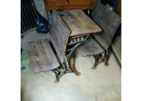Antique Sidney school desk set from the late 1800's