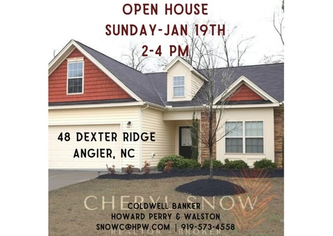 Open House! 48 Dexter Ridge - Angier, NC