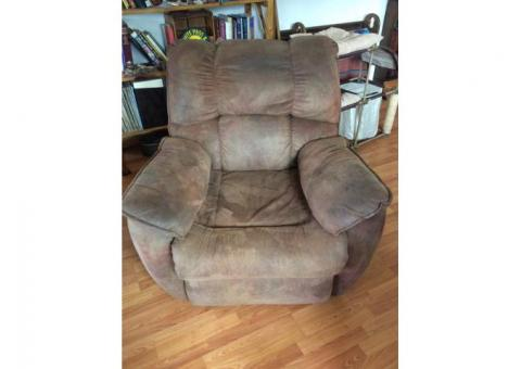 Large couch and matching recliner