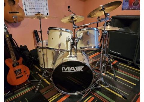 Sabian Cymbal Set and Double Kick, Drums Included