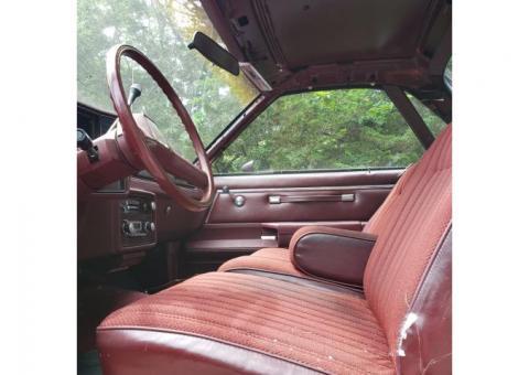 1984 Chevy El Camino.  Maroon. Good frame. Nice build. V8 Automatic. Restorable. Fairly good shape.